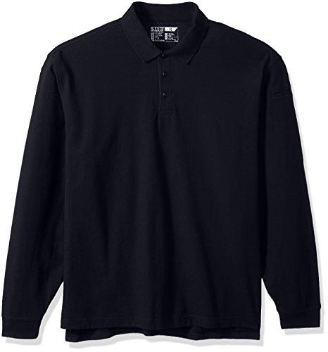 (5.11 Men's Utility Long Sleeve Polo Shirt, Dark Navy, X-Large)