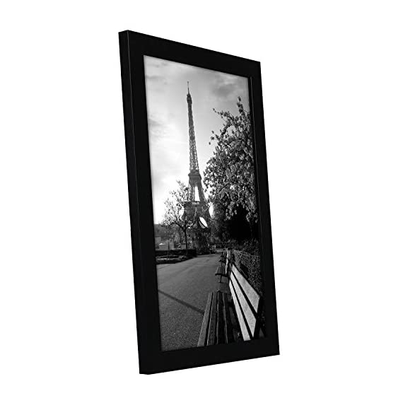 Americanflat 8x12 Black Picture Frame - Shatter-Resistant Glass - Wall Display - Tabletop Display - Hanging Hardware - Easel Back Included - Design: Black 8x12 (7.5x11.5 display area) inch picture frame, perfect for your cherished memories, family portrait and vacation photos; comes with hanging hardware for hassle-free display in both horizontal and vertical formats to hang flat against the wall; includes an easel stand for tabletop or desktop display Material: Wood frame with a polished tempered shatter-resistant glass front that gives a clear view of your picture and preserves your photographs, cards and memories Quality: Durable, gallery-style frame; the frame's front has clear tempered shatter-resistant glass and a sturdy backboard to keep the photo in place - picture-frames, bedroom-decor, bedroom - 413E4xdsFpL. SS570  -