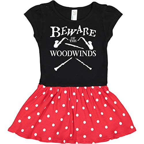 inktastic - Beware of The Toddler Dress 4T Black & Red with Polka Dots 27fbf