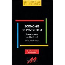 economie entreprise: de entrepreneur a gouvernance 2e ed.