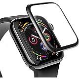 Baseus Apple Watch 4-5 44MM 3D Kavisli Tempered Kırılmaz Cam Koruyucu SİYAH