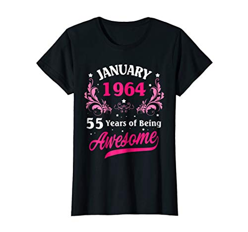 Made In January 1964 Shirt Birthday Gifts 55 Years Old