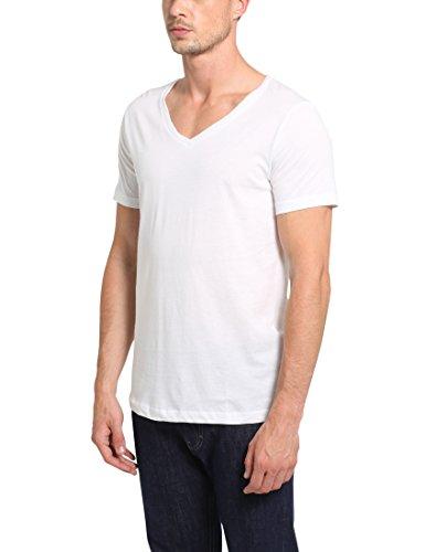Da shirt 3 Bianco Con Uomo A Pacco Basic T Lower V East Scollo OnETPxqSv