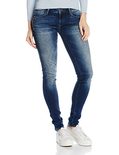 du Skinny Jean Dark Glam Jambe Femme Bleu Moulante Used Prs Corps Serena Mavi Coupe 0E54wxq