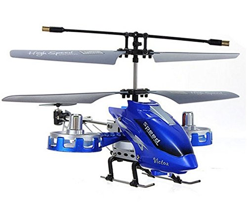 Taipove 4 CH RC RF Remote Control Helicopter Aircraft Boy's Toy Blue (Blue, M302)