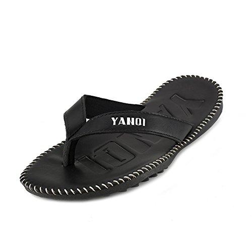 Hombre PVC Para de YQMU006 YANQI LOVE Negro Sandalias SW4xnzv6