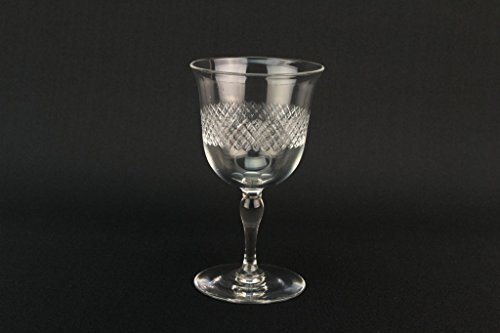 6 Port Glasses Cut Crystal Traditional Webb Corbett Vintage English Mid 20th Century by Webb Corbett