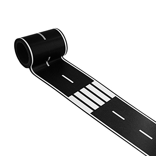 Piokio Black Road Track Tape Creative Traffic for Kids Birthday Car Party Gift 33