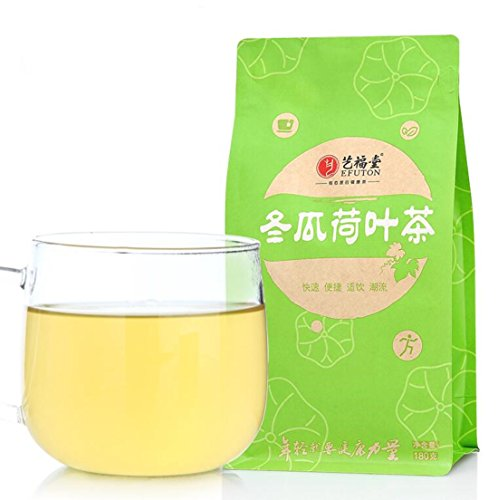 (Helen Ou@ 60小包 Lotus Leaves and Dried Wax Gourd or White Gourd Herbal Tea Combination for Your Daily Drink and Dear Beauty and Cool Summer 6.3oz Including 60 Small Bags )