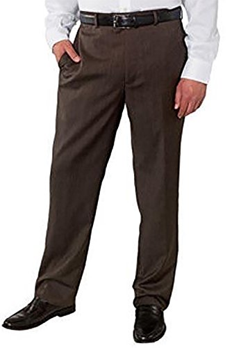 - Kirkland Signature Men's Wool Gabardine Flat Front Dress Slack Pant, Brown Herringbone 755, Size 36x30