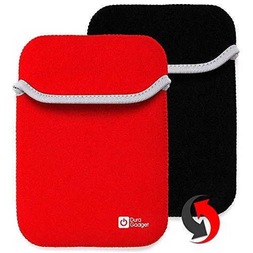 2-in-1 umkehrbare Tasche | Etui | Case | Schutzhülle in SCHWARZ-ROT aus wasserabweisendem Neopren-Material für Casio FX-9750GII-LC-UH Grafikrechner Grafische Taschenrechner (Rechner ist NICHT im Lieferumfang enthalten!)