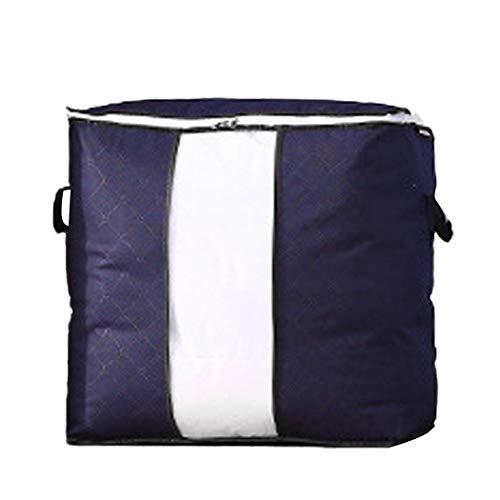 Idomeo Household Quilt Storage Bag Pillow Clothing Large Zip Tote Organizer Bag Packing Organizers
