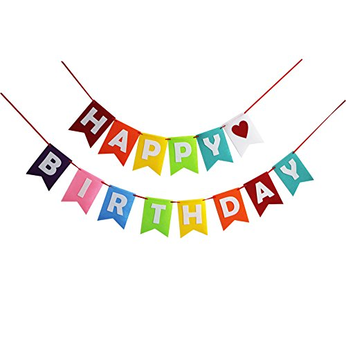 Birthday Decorations,Happy Birthday Banner Garland Sign For Birthday Party Supplies