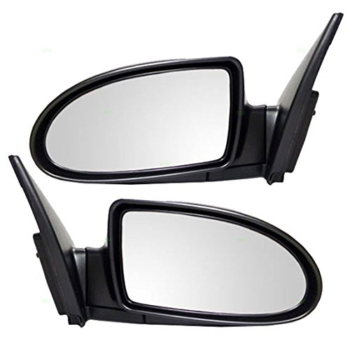 - Driver and Passenger Power Side View Mirrors Ready-to-Paint Replacement for Hyundai 87610-1E150 87620-1E220