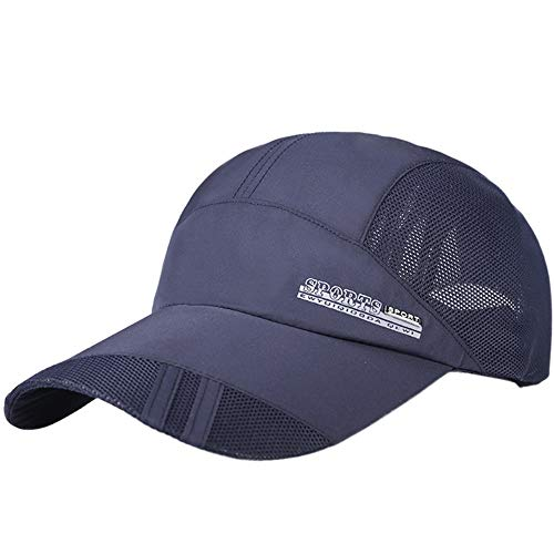 Unisex Classic Twill Mesh Hat Adjustable Baseball Hat Breathable Simplicity Hip Hop Hat Navy