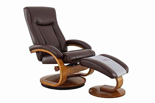 Mac Motion Chairs 54-99-103 Hamar Recliner in Whisky Air - Home Collection Brown Leather Theater