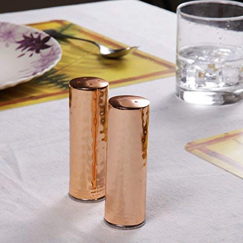 - GoCraft Salt and Pepper Shakers | Elegant Designed Copper Finish Stainless Steel Salt and Pepper Shakers - 4