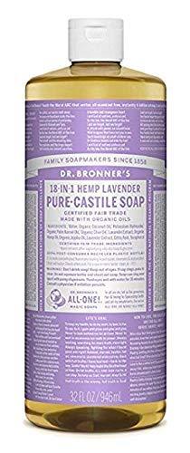 (Dr. Bronner's Pure-Castile Liquid Soap - Lavender 32 Fl oz.)