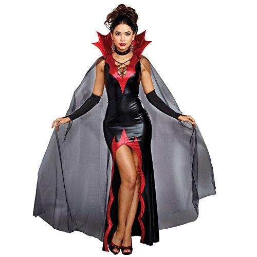 Dreamgirl Women's Killing It, Black/Red, L