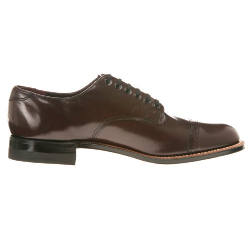 Stacy Adams Madison 00012 Mens Oxford 9 2e Oss Bourgogne