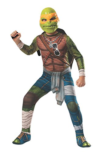 Michelangelo Kids Costumes Mask (Rubies Teenage Mutant Ninja Turtles Child Michelangelo Costume,)