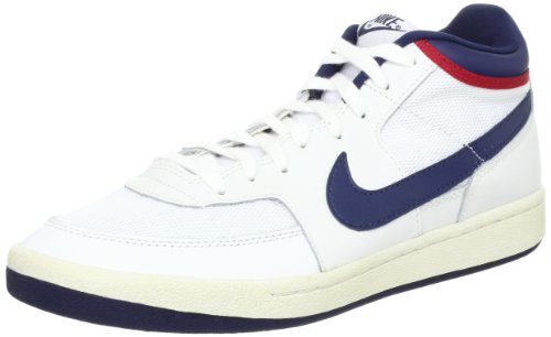 Nike M NK Court Top 1Brand Mark–Maglietta a maniche corte per uomo Nero (black / white) (bianco)