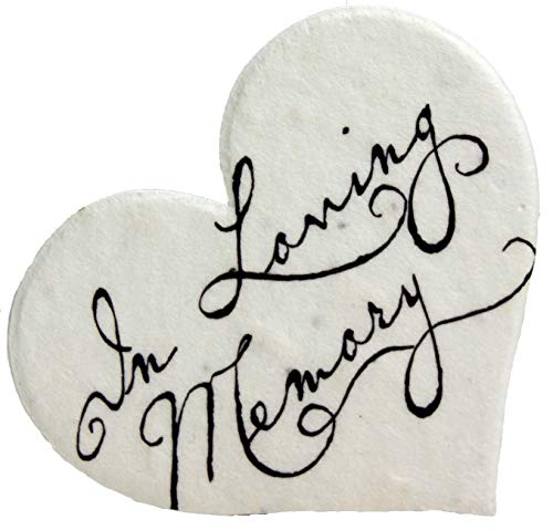 in Loving Memory Seed Paper Hearts Set of 50