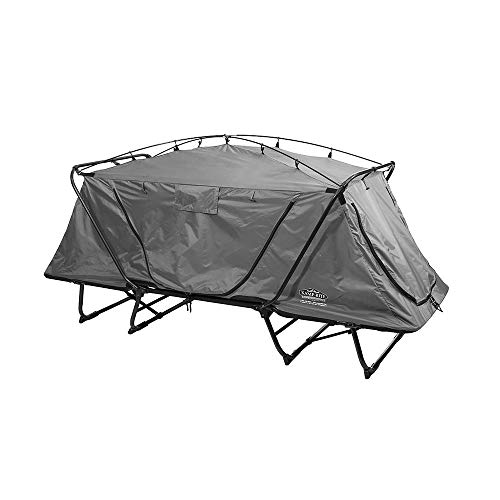 Kamp-Rite Oversize Tent Cot Folding Outdoor Camping Hiking Sleeping Bed, Gray