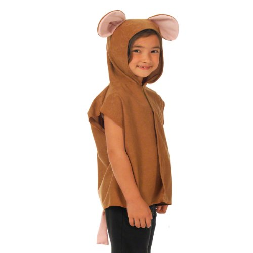 Charlie Crow Brown Mouse Costume for Kids 3-8 Years -