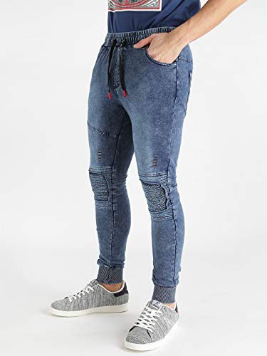 Mentality Blu Toppe Con Elasticizzati Pantaloni New AKqwZfpRR