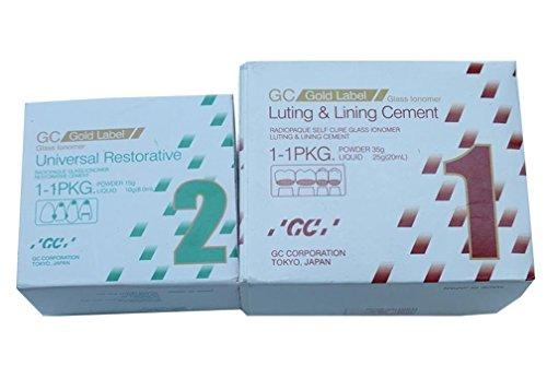 GC Glass Ionomer Self Cure No 1 & No 2 5.5X6X5'' Green, White