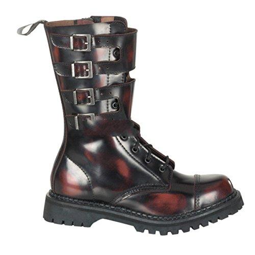 Attack Ranger Schnallen Gothic 10 Stiefel Mit Demonia off Leder Punk Burgundy Industrial 36 Rub 48 fW0zd0xwn