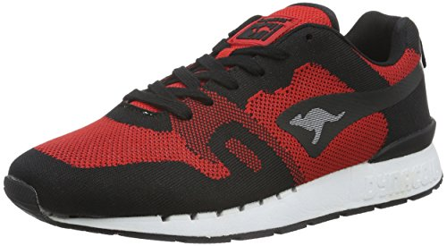 Sneaker Adulto 560 KangaROOS Unisex Woven Omnicoil Black Basse Red Multicolore Flame qx4Xw
