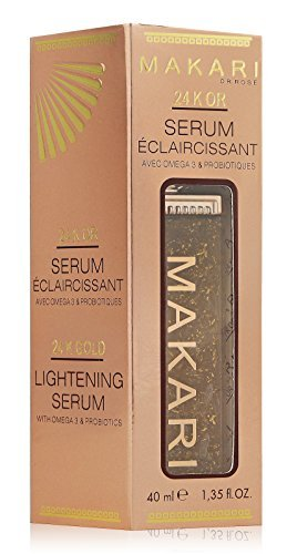 MAKARI 24K Gold Lightening Serum with Omega 3 and Probiotics, Great for Anti Aging, Stretch Marks and Removes Scars