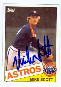 Mike Scott Autographed Baseball Card Houston Astros 1985 Topps 17