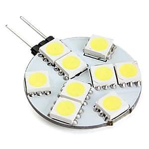 Leedfsw G4 9x5050 SMD 1.3W 100LM Natural White Light LED Bulb (12V)