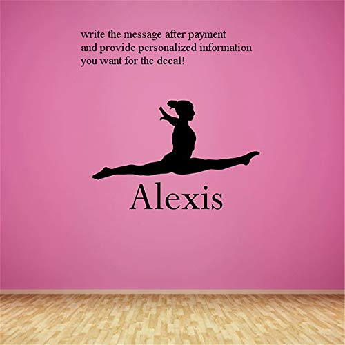 Cuikie Wall Stickers Art Decor Vinyl Peel and Stick Mural Removable Decals Personalized Name Dancer for Bedroom Or Dance StudioFor Nursery Bedrom ()