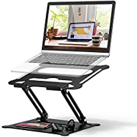 Adjustable Laptop Stand, FYSMY Ergonomic Portable Computer Stand with Heat-Vent to Elevate Laptop, 13 Lbs Heavy Duty...