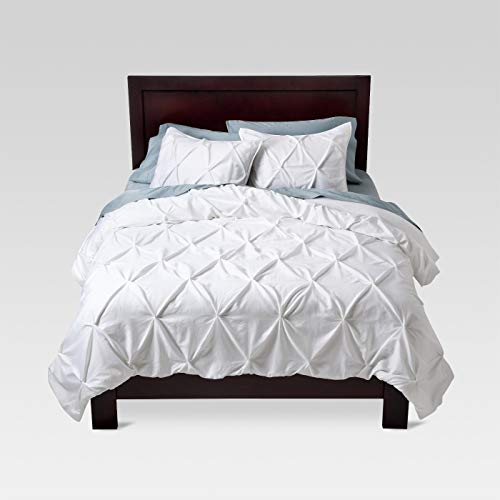 Threshold Pinched Pleat Comforter Set - White - Full/Queen