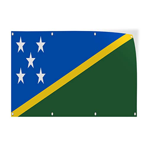 - Decal Sticker Multiple Sizes Solomon Island Flag Blue Yellow Green Countries Solomon Island Flag Outdoor Store Sign Blue - 30inx20in, Set of 10