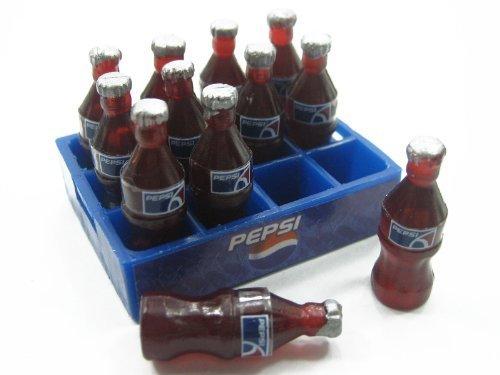 dollhouse-miniature-barbie-12-pepsi-bottles-1-tray-deco-charms-supply-dollhouse-food