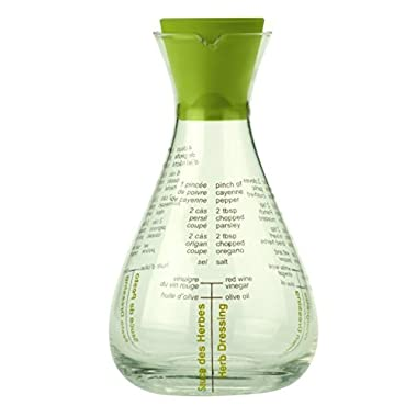 Typhoon Salad Shaker Flask Glass Oil/Vinegar Drizzler with Silicone Stopper