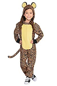 Amscan Cool Costume Wear Leopard Zipster Party (1 Piece), Brown, Black, Toddler (3-4)