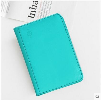 Tekit RFID Blocking passport wallet PU leather multifunctional can take credit cards,passport,ticket holder (blue)