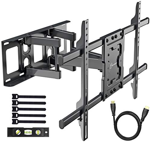 EVERVIEW TV Wall Mount Bracket fits to most 37-70 inch LED,LCD,OLED Flat Panel TVs, Tilt Full motion Swivel Dual Articulating Arms, bring perfect viewing angle, Max VESA 600X400, 132lbs Loading ()