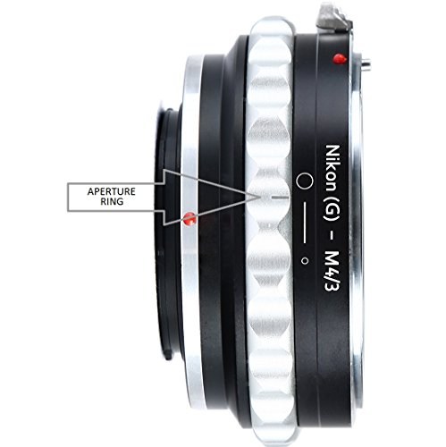 Adapter to Convert Nikon F-Mount Lens to MFT Lens for Mirrorless Micro Four Thirds M4/3 Digital Camera (D and G Type - Mount Olympus