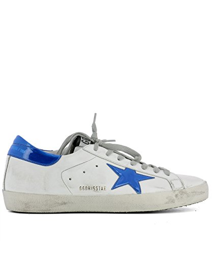 Golden Goose Sneakers Uomo G31ms590c75 Pelle Bianco/Blu
