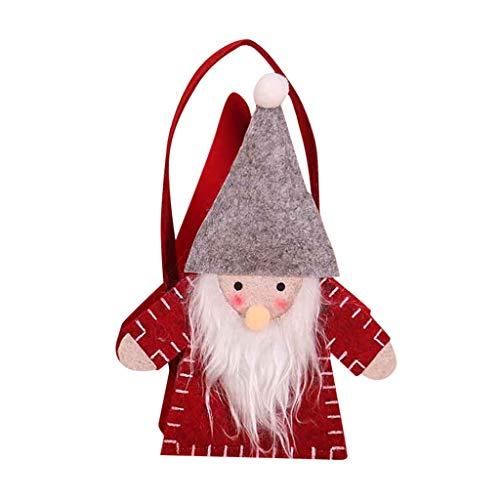 Juesi Christmas Treat Bags, Swedish Christmas Santa Gnome Felt Gift Bag, Xmas Holiday Goodie Bag, Super Tote Bags Candy Bag, 8 x 6 Inch