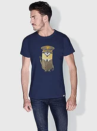 Creo Hitler Minions Round Neck T-Shirt For Men - Navy, M