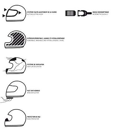 Black//Pink S Astone Helmets Casque id/éal en milieu urbain Casque de moto femme Casque de moto int/égral en polycarbonate Casque int/égral GT2 Graphic Lady Custom